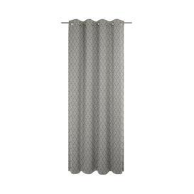 image-Uppingham Eyelet Blackout Single Curtain Fairmont Park Colour: Black / Grey, Size: 145 x 175cm