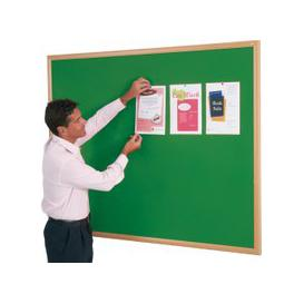 image-Eco Friendly Noticeboard, Oak/Green, Free Next Day Delivery