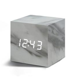 image-Modern Digital Wood Electric Alarm Tabletop Clock Symple Stuff Finish: Marble/White