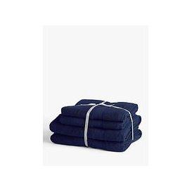 image-John Lewis & Partners Plush Supima Cotton 4 Piece Towel Bale