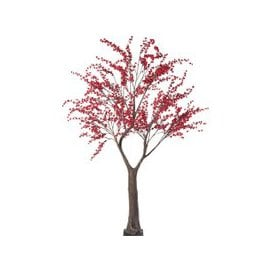 image-Red Artificial Cherry Tree H250