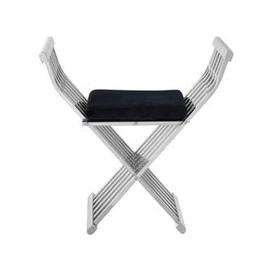 image-Fafnir Stainless Steel Cross Design Occasional Chair In Silver
