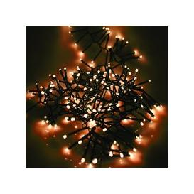 image-360, 480, 720, 960 Multifunction LED Christmas Cluster Lights with Timer and Green Cable - Antique White [360]