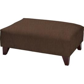 image-Maya Footstool Latitude Run Upholstery Colour: Arizona Chocolate