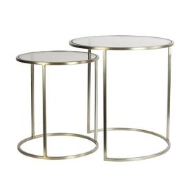 image-Gold nested side tables