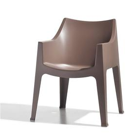 image-Ebel Stacking Dining Chair Sol 72 Outdoor Seat Colour: Cocoa