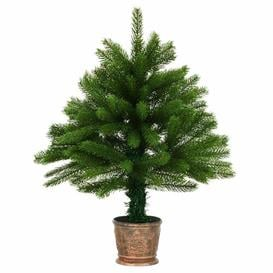 image-2ft Green Pine Artificial Christmas Tree with Stand Berkfield