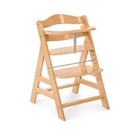 image-Hauck Alpha+ Wooden Highchair - Wood Finish