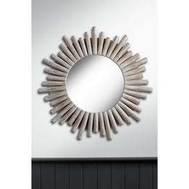 image-Sunburst Venetian Round Wall Mirror