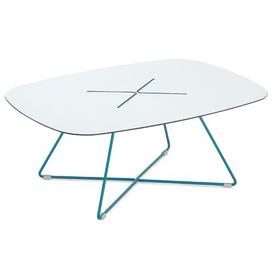 image-Palmetto Coffee Table Ebern Designs Base Finish: Turquoise