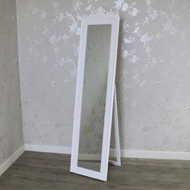 image-Stramoine Cheval Mirror Fleur De Lis Living Finish: White