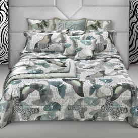 image-Roberto Cavalli - Fading Butterflies Bed Set - Aqua - King