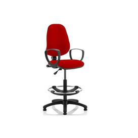 image-Lunar 1 Lever Draughtsman Chair (Fixed Arms), Bergamot Cherry