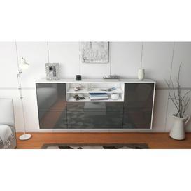 image-Spalding Sideboard Brayden Studio Colour (Body/Front): White mat/Grey