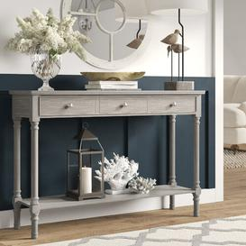 image-Berkshire Console Table Brambly Cottage Size: 81cm H x 120cm W x 35cm D, Colour: Taupe