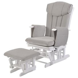 image-Kub Chatsworth Glider Nursing Chair and Foot Stool, Grey