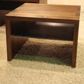image-Macias Coffee Table with Magazine Rack Ebern Designs Wood Type: Walnut, Finish: Matt Lacquered