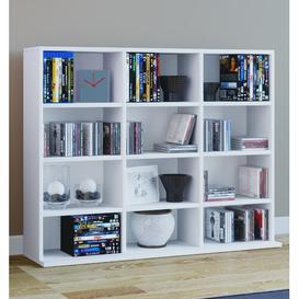 image-Mini Multimedia Open DVD/CD Shelf Mercury Row Colour: White