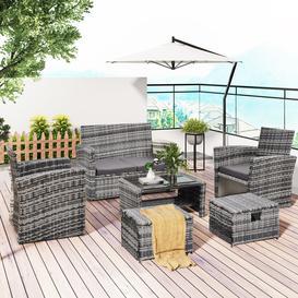 image-Kessler 4 Seater Rattan Sofa Set