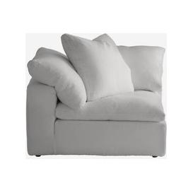 image-Andrew Martin Truman Large White Linen Sectional Sofa / Armless