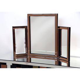 image-Dressing Table Mirror Fairmont Park Finish: Bronze