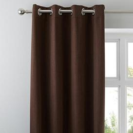 image-Solar Chocolate Blackout Eyelet Curtains Chocolate Brown