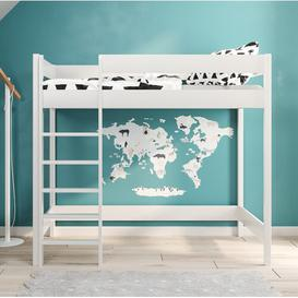 image-Shepard High Sleeper Bed Isabelle & Max Size: Cot Bed / Toddler (70 x 140 cm), Mattress Included: Yes