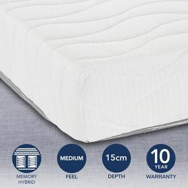 image-MemoryPedic Reflex Coil European Size Mattress White