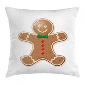 image-Ranveer Gingerbread Man Iconic Treats Outdoor Cushion Cover Ebern Designs Size: 45cm H x 45cm W