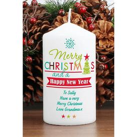 image-Personalised Bright Christmas Candle