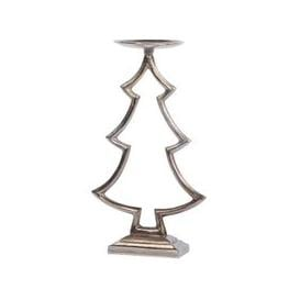 image-Libra Stained Bronze Small Tree Pillar Candle Holder - Xmas-18