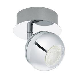 image-Eglo 95477 Nocito 1 One Light Wall Spotlight In Chrome And White