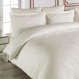 image-Horrel 210TC Duvet Cover Set Bloomsbury Market Colour: Ivory, Size: Double