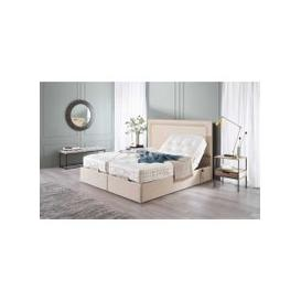 image-Vispring Sapphire II Adjustable Recliner De Luxe Mattress with Arcadia Headboard - Long Single 90 x 200cm - 3ft - Vispring End Drawers - Supplement Fabric A