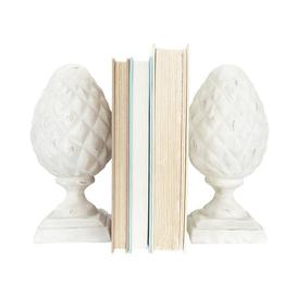 image-Aahil Bookends Blue Elephant Colour: White