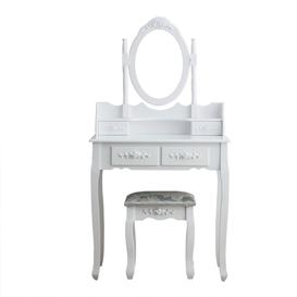 image-Mclaren Dressing Table Set with Mirror