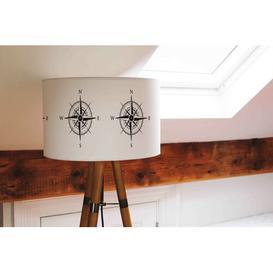 image-Cotton Drum Lamp Shade Longshore Tides Size: 25cm H x 40cm W x 40cm D