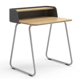 image-Secretary Desk Sedus Frame Colour: White, Top Colour: Anthracite/Oak, Wireless Charger Type: Without Wireless Charger
