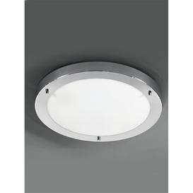 image-C5682 2 Light Chrome &amp Glass Flush Bathroom Ceiling Light