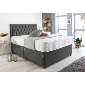 image-Mcclendon Bumper Suede Divan Bed Willa Arlo Interiors Size: Super King (6'), Storage Type: 2 Drawers Same Side