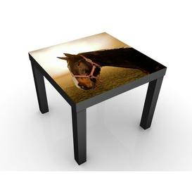 image-Early Horse Side Table Brambly Cottage Frame colour: Black