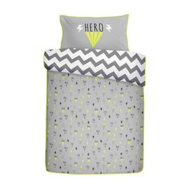 image-Appletree Kids Hero Duvet Cover Set Silver