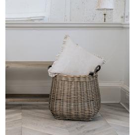 image-Natural Frill Cushion