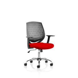 image-Mid-Back Desk Chair Symple Stuff Colour: Flame Red
