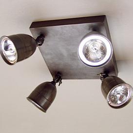 image-Moraga 4 Light Ceiling Spotlight Ebern Designs Finish: Bronze, Size: 14 cm H x 21.5 cm W x 21.5 cm D