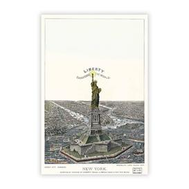 image-'Statue of Liberty in New York' - Painting Print on Paper Big Box Art Size: 59.4 cm H x 42 cm W