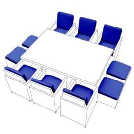 image-Garden Dining Chair Cushion Dakota Fields Colour: Blue