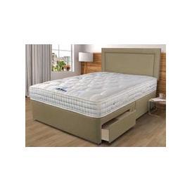 """image-Sleepeezee Backcare Luxury 1400 Pocket Divan Set - Double (4'6\"""" x 6'3\""""), 2+2 Continental Drawers, Sleepeezee_Weave Heather"""