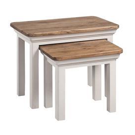 image-Blayze 2 Piece Nest of Tables Brambly Cottage Colour: Stone