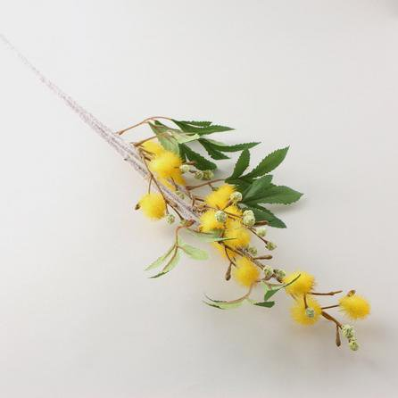 image-Artificial Mist Yellow Flower Single Stem 100cm Yellow